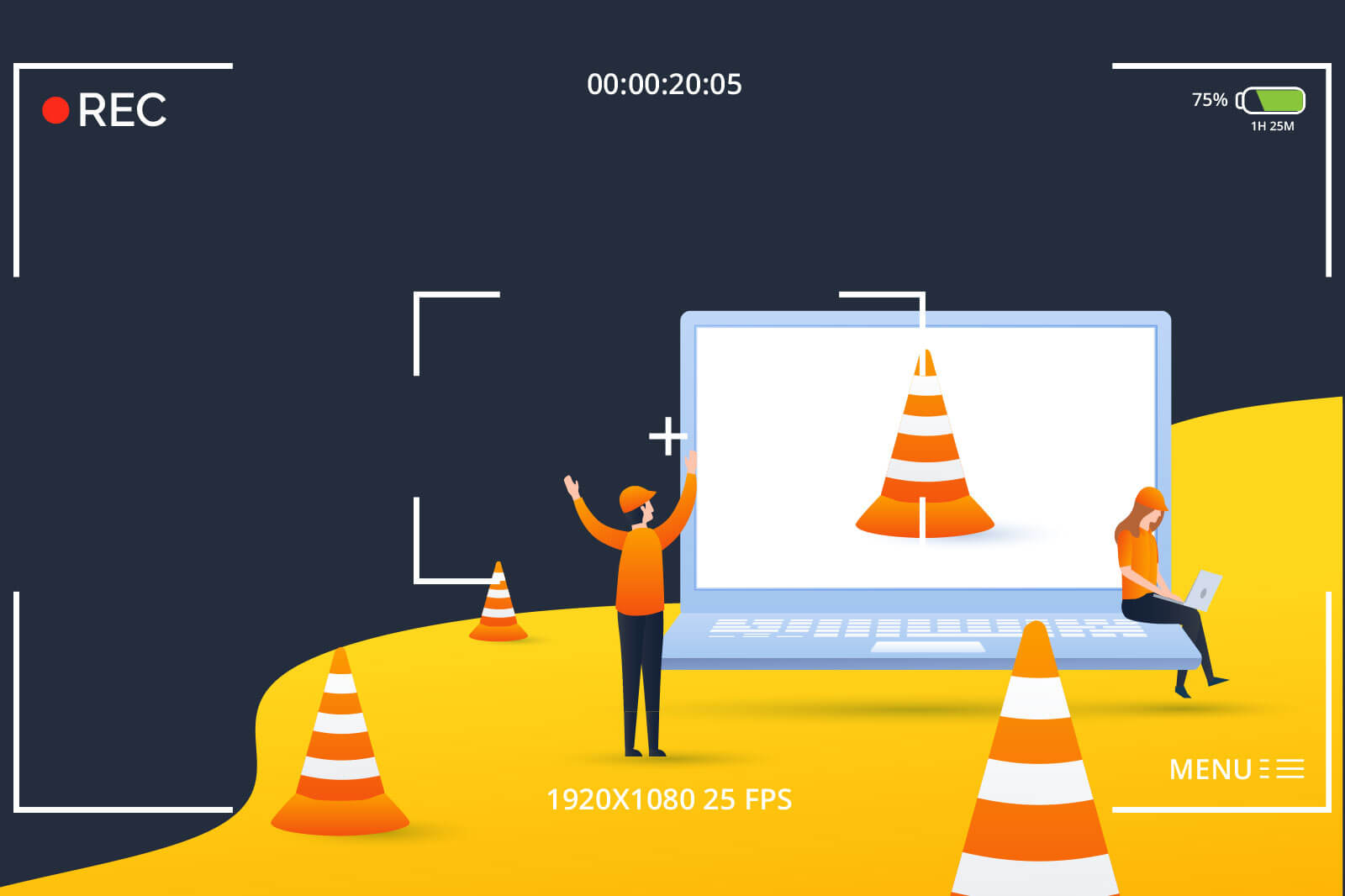 Recording using VLC player